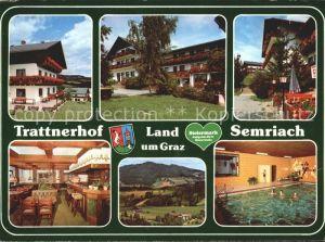 Semriach Hotel Retaurant Trattnerhof Hallenbad Wappen Kat. Semriach