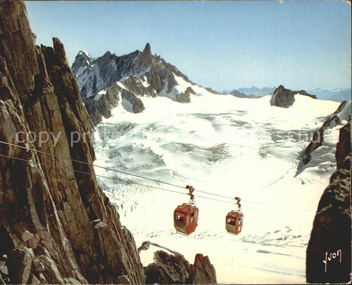 Mont Blanc mit Seilbahn Kat. Chamonix Mont Blanc