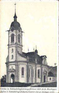 Schindellegi Kirche Architekt Hardegger Kat. Schindellegi