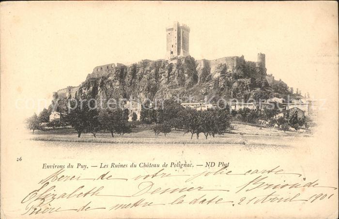 Le Puy en Velay Ruines du Chateau de Polignac Kat. Le Puy en Velay