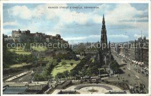 Edinburgh Princes Street and Castle Kat. Edinburgh