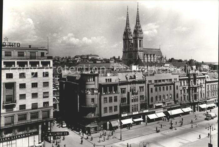 Zagreb Platz Kirche Kat. Zagreb
