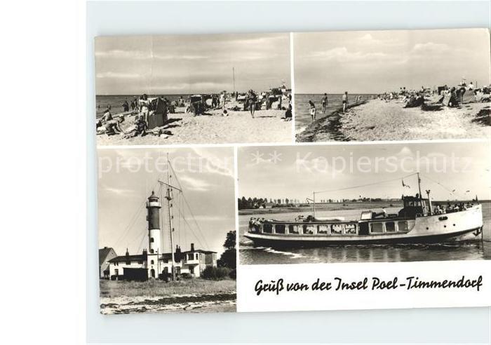 Timmendorf Insel Poel Strand Leuchtturm Strand Schiff Kat. Insel Poel