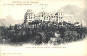 Rochers de Naye Chemin de fer Grand Hotel Caux Kat. Rochers de Naye