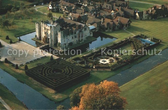 Edenbridge Sevenoaks Hever Castle and Tudor Village Aerial View Kat. Sevenoaks