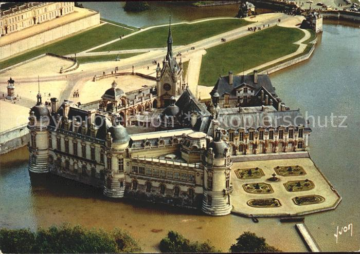 Chantilly Chateau de Chantilly Vue aerienne Kat. Chantilly