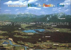 Villach Kaernten Ferienregion Villach Faaker See Panorama Kat. Villach