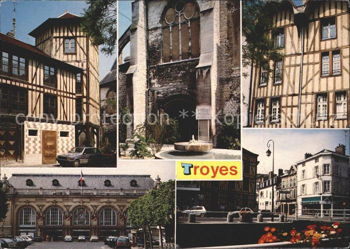 Troyes Aube Ave Marechal Joffre Place du Marche au Pain Rue Urbain IV Kat. Troyes