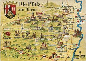 Pfalz am Rhein Panoramakarte Kat. Kriegsfeld