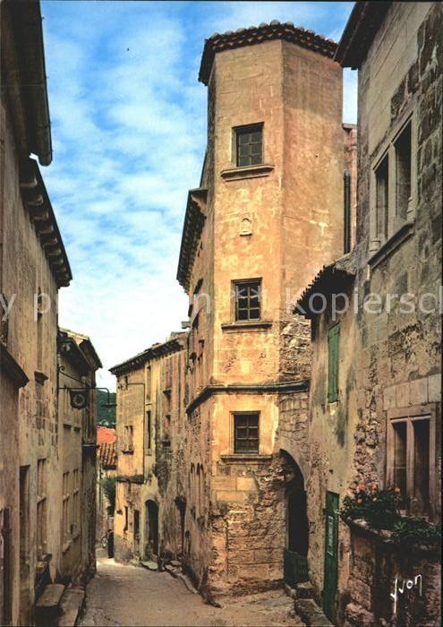 Les Baux de Provence La Grande Rue bordee  Kat. Les Baux de Provence