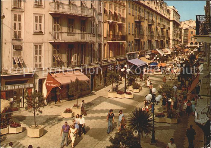 Nice Alpes Maritimes La Rue pietonne Rue Massena Kat. Nice