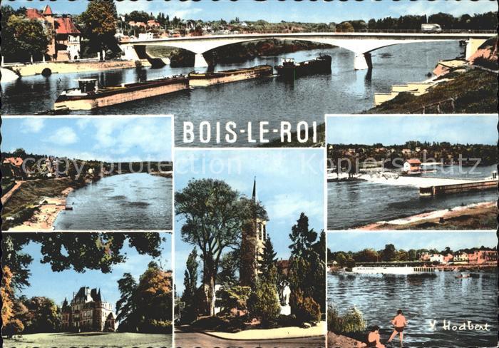 Bois le Roi Seine et Marne La Seine au pont de Chartrette La maison de convalescence de Brolbes L Eglise et le Monument aux Morts Kat. Bois le Roi