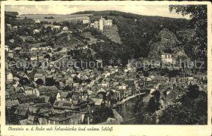 Oberstein Nahe mit Felsenkirche und Schloss Kat. Idar Oberstein
