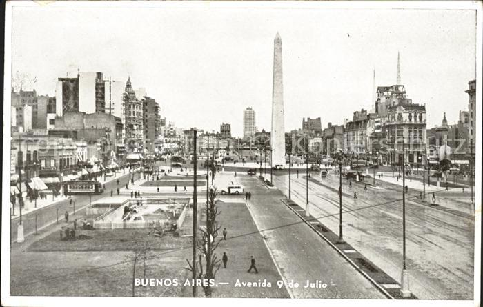 Buenos Aires Avenida 9 de Julio Obelisk Kat. Buenos Aires