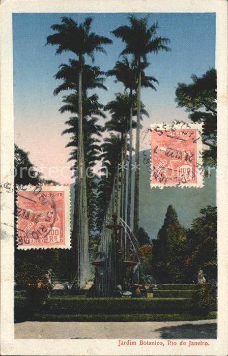 Rio de Janeiro Jardim Botanico Stempel auf AK Kat. Rio de Janeiro
