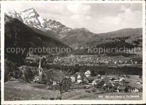 Sils Domleschg mit Thusis und Piz Beverin Alpenpanorama Kat. Sils Domleschg