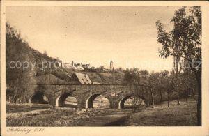 Rothenburg Tauber Partie am Fluss Bruecke Kupfertiefdruck Kat. Rothenburg ob der Tauber