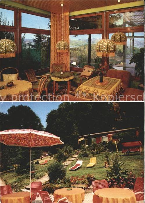 Lindenfels Odenwald Haus Luginsland mit Landkarte Kat. Lindenfels