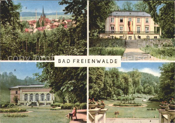 Bad Freienwalde Puschkinhaus Kurhaus Kurpark Kat. Bad Freienwalde