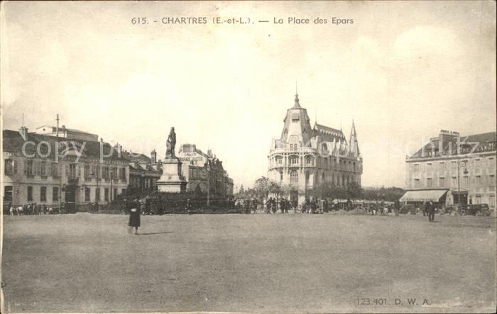 Chartres Eure et Loir La Place des Epars Kat. Chartres