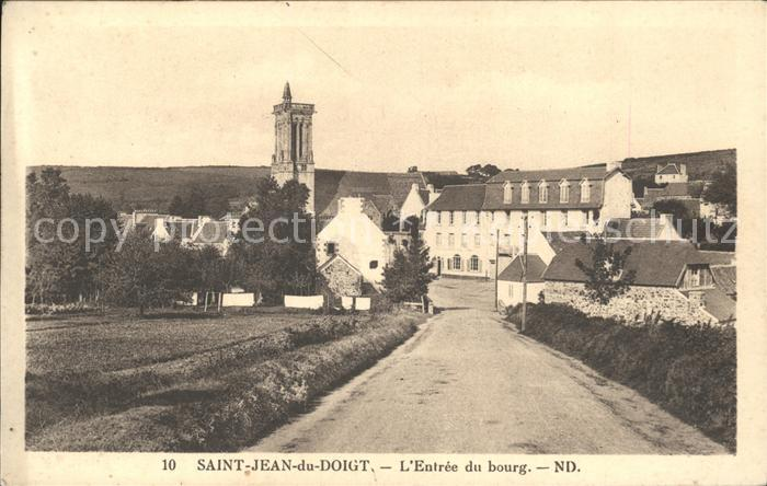 Saint Jean du Doigt Entre du bourg Kat. Saint Jean du Doigt