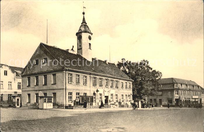 Zehdenick Marktplatz mit Rathaus Kat. Zehdenick