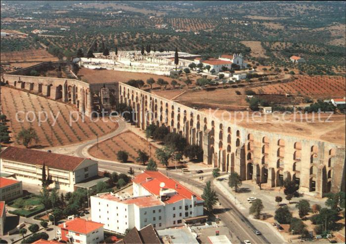Elvas Aqueduto da Amoreira vista aerea Kat. Elvas