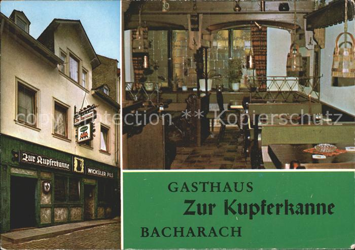 Bacharach Rhein Gasthaus Zur Kupferkanne Kat. Bacharach