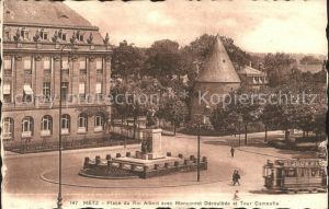 Metz Moselle Place du Roi Albert Strassenbahn Kat. Metz