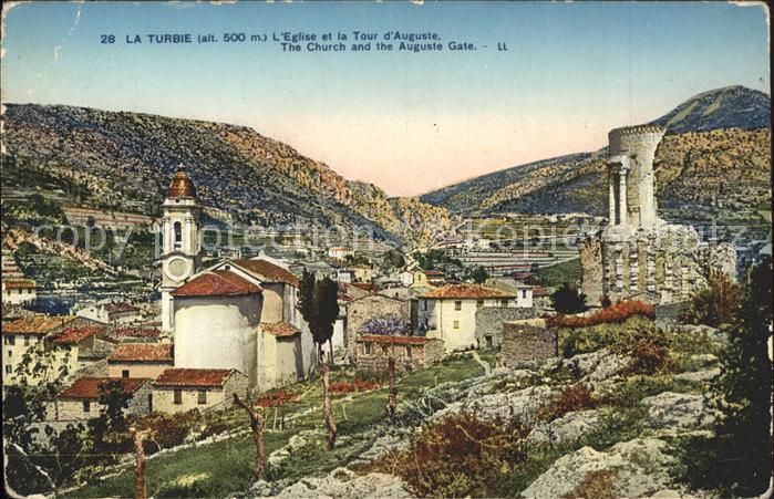 La Turbie Eglise et Tour d`Auguste Kat. La Turbie