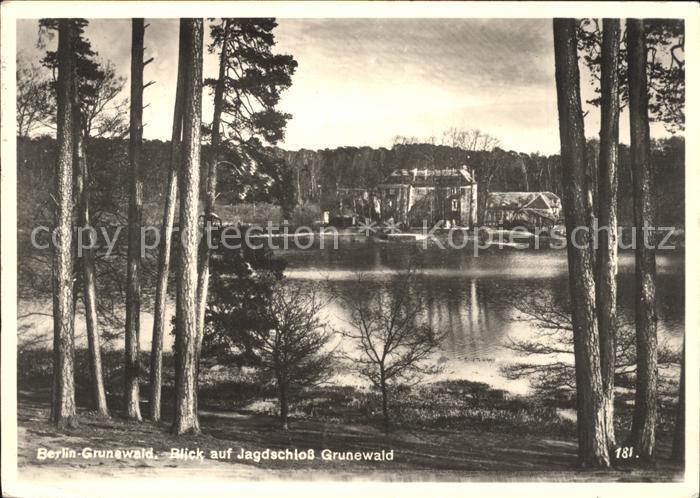 Grunewald Berlin Jagdschloss Grunewald Kat. Berlin