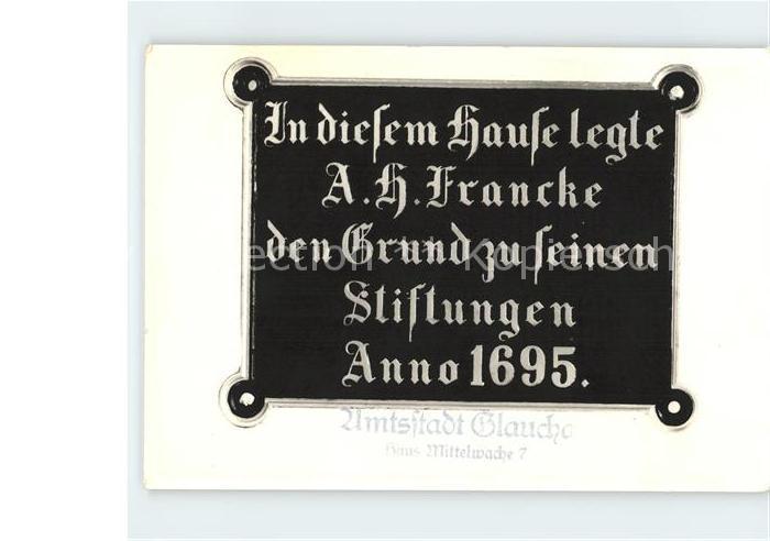 Halle Saale Alberg Hermann Francke 250 Todestag Stiftungen Kat. Halle