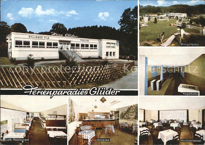 Glueder Solingen Cafe Restaurant Haus Glueder Minigolf Kegelbahn Schaenke Hochzeitssaal Kat. Solingen