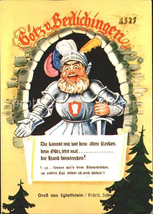 Egloffstein Goetz von Berlichingen Karikatur Kat. Egloffstein