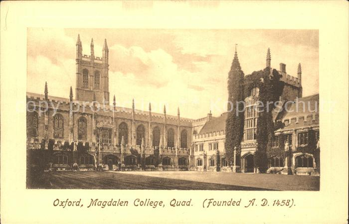 Oxford Oxfordshire Magdalen College Quad founded 1458 Frith s Series Kat. Oxford