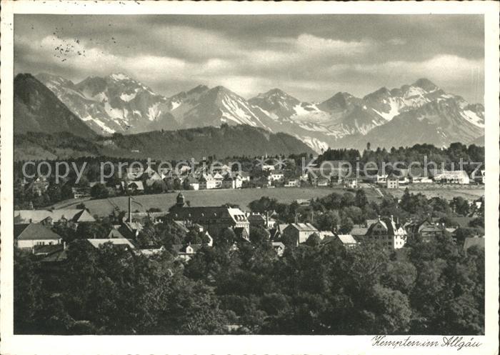 Kempten Allgaeu Gesamtansicht mit Oberstdorfer Bergen Alpenpanorama Kat. Kempten (Allgaeu)