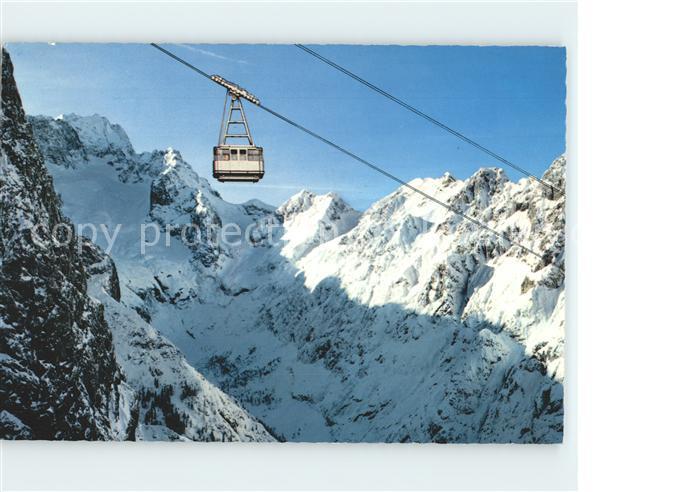 Garmisch Partenkirchen Osterfelderbahn der Alpspitzbahnen gegen Hoellental und Zugspitze Kat. Garmisch Partenkirchen