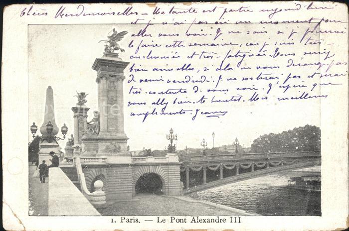 Paris Le Pont Alexandre III Kat. Paris
