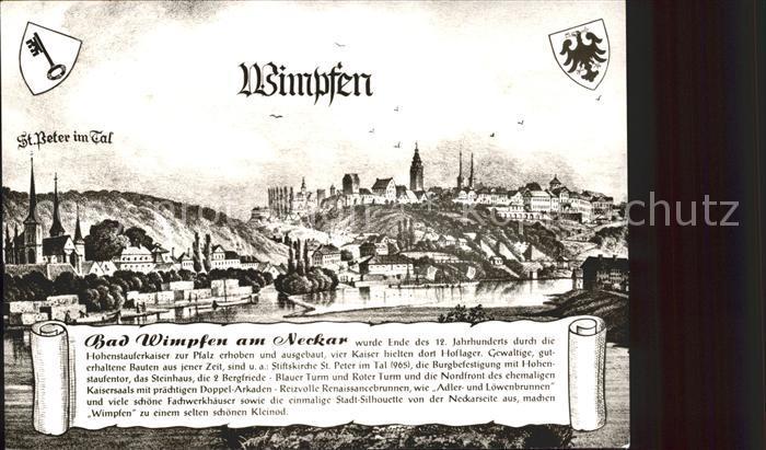 Bad Wimpfen am Neckar Altes Staedtebild Kat. Bad Wimpfen