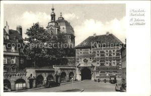 Burtscheid Aachen St. Johann mit Abteitor Kat. Aachen