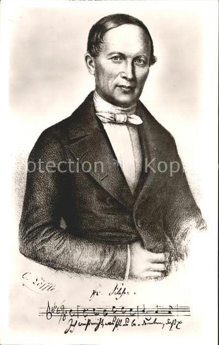 Schnait Weinstadt Remstal Silcher Museum Portrait Dr. Friedrich Silcher Kat. Weinstadt