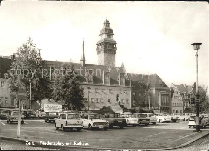 Zeitz Friedensplatz mit Rathaus Kat. Zeitz