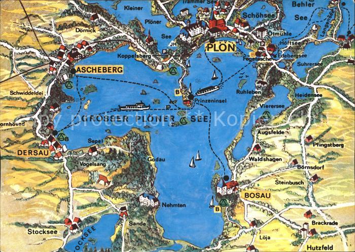 Ploen See Landkarte Ploener See Ascheberg Ploen Ploen Lkr Nr