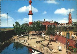 Bremerhaven Tiergrotten alter Leuchtturm Kat. Bremerhaven