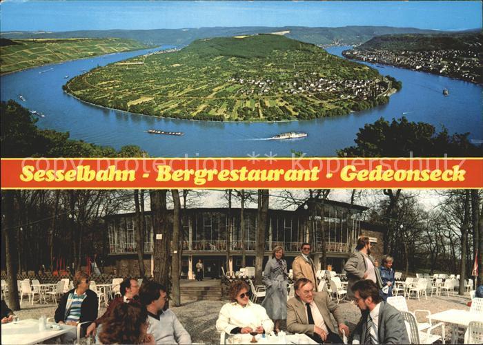 Boppard Rhein Sesselbahn Bergrestaurant Gedeonseck Terrasse / Boppard /Rhein-Hunsrueck-Kreis LKR