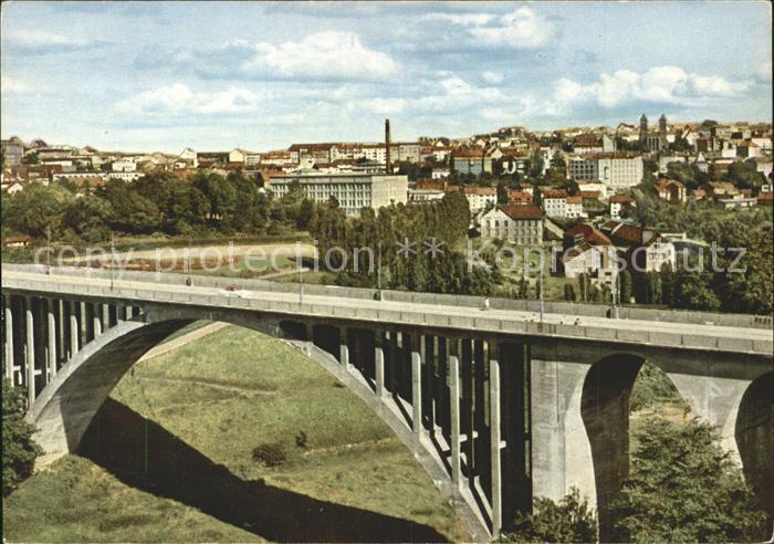 Pirmasens Blick auf Stadt und Bruecke Kat. Pirmasens