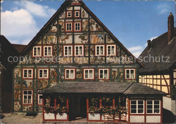 Schieder Schwalenberg Gasthof Kuenstlerklause Fassadenmalerei Kat. Schieder Schwalenberg