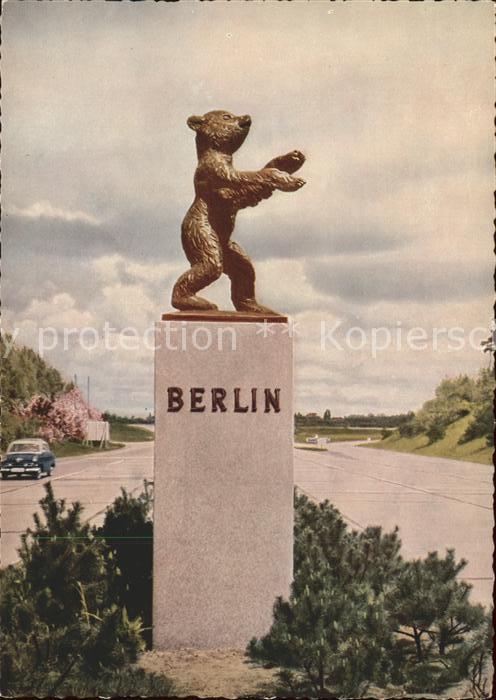 Ke44185 Berlin Berliner Baer An Der Autobahn In Zehlendorf Kat