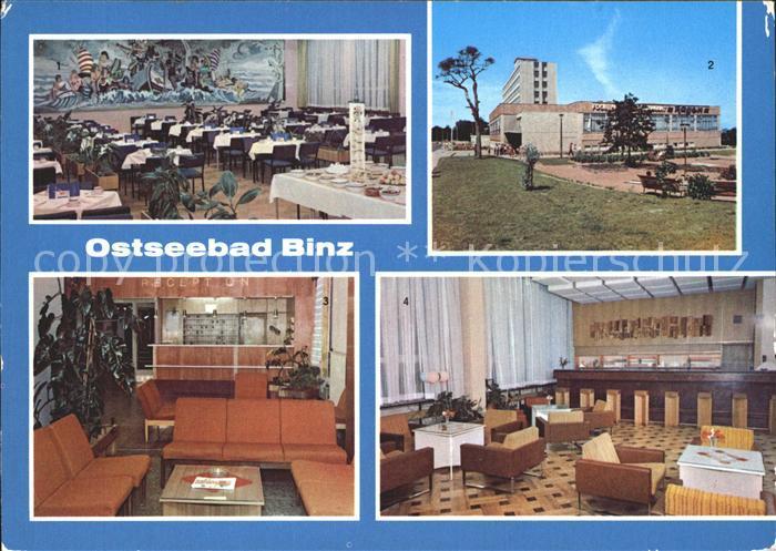 Binz Ruegen FDGB Restaurant Ruegen Kl Speisesaal Bar Rezeption Kat. Binz