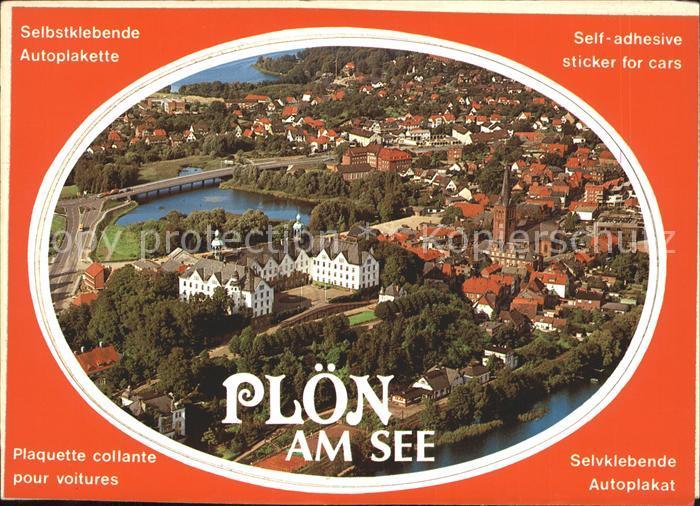Ploen See Fliegeraufnahme Autoplakette / Ploen /Ploen LKR